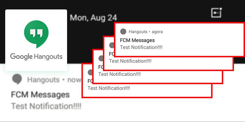 """""""FCM Messages Test Notification"""" – What's wrong with Google Hangout! A mysterious notification from Hangout-preview image"""