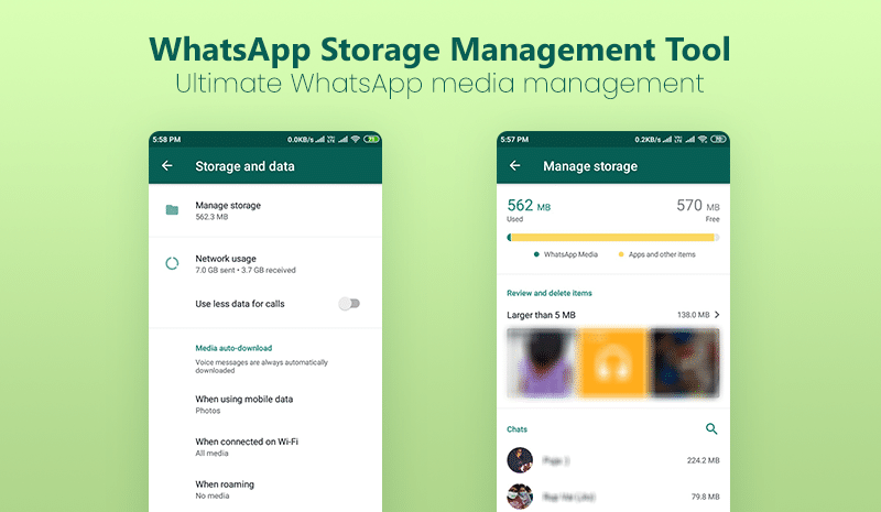 WhatsApp Storage Management Tool