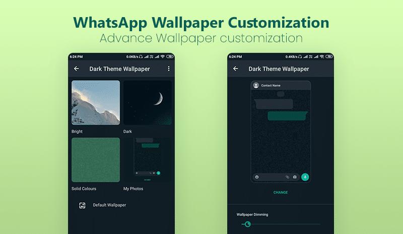 WhatsApp advance Wallpaper customization